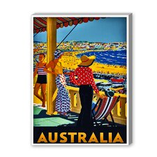 Australia Graphic Art on Canvas
