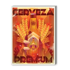 Cerveza Premium Vintage Advertisement on Canvas