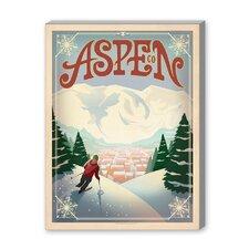 Aspen Vintage Advertisement on Canvas