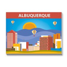 Albuqeurque Graphic Art on Canvas