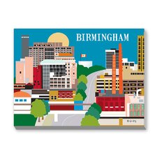 Birmingham Graphic Art on Canvas