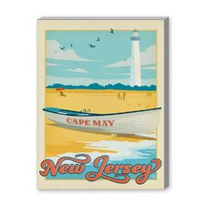 Cape May Vintage Advertisement on Canvas