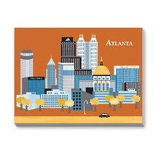 Atlanta Graphic Art on Canvas