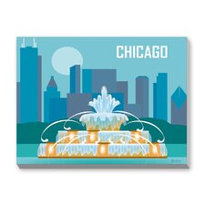 Chicago Graphic Art on Canvas