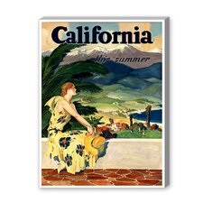 California This Summer Graphic Art on Canvas