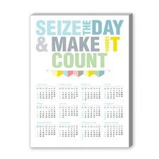 Calendar Seize the Day Textual Graphic Art