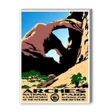 Arches National Park Vintage Advertisement on Canvas