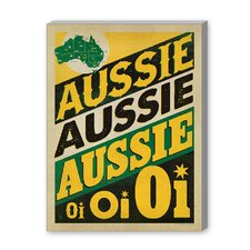 Aussie Aussie Vintage Advertisement on Canvas