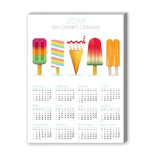 Calendar Ice Cream Graphic Art on Canvas
