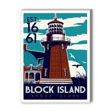 Block Island Vintage Advertisement on Canvas