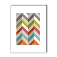 Chevrons Graphic Art on Canvas