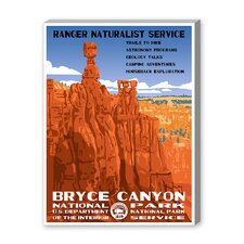 Bryce Canyon National Park Vintage Advertisement on Canvas