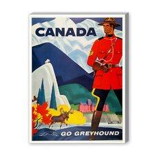 Canada Go Greyhound Vintage Advertisement on Canvas