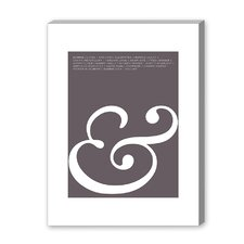 Ampersand Love Graphic Art on Canvas