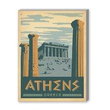 Athens Vintage Advertisement on Canvas