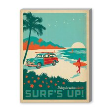 Coastal Surf's Up! Vintage Advertisement on Canvas