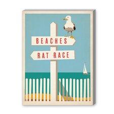 Coastal Beach - Rat Race Vintage Advertisement Graphic Art