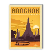 Bangkok Vintage Advertisement on Canvas