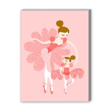 Ballerina Mother Daughter Graphic Art on Canvas