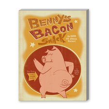 Benny's Bacon Vintage Advertisement on Canvas