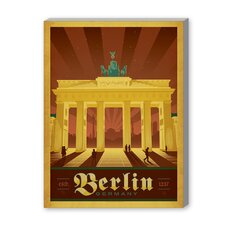 Berlin Vintage Advertisement on Canvas