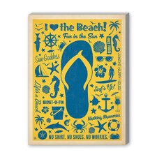 Coastal Flip Flip Pattern Print Vintage Advertisement Graphic Art