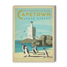 Cape Town Vintage Advertisement on Canvas