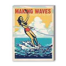 Coastal Making Waves Vintage Advertisement Graphic Art
