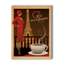 Café Tour Eiffel Vintage Advertisement on Canvas