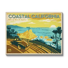Coastal California Vintage Advertisement on Canvas