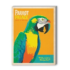 Coastal Parrot Place Graphic Art on Canvas