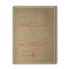 Airplane III Graphic Art on Canvas