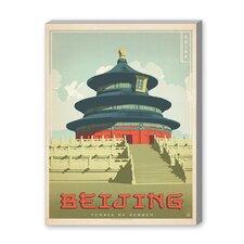 Beijing Vintage Advertisement on Canvas