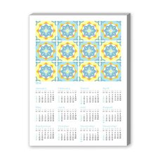 Calendar Portuguese Tile IV Graphic Art on Canvas