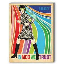MOD Go-Go Dancer Graphic Art on Canvas