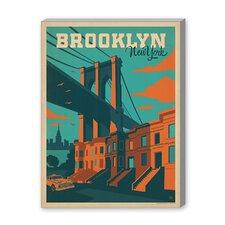 ASA New York City Brooklyn Vintage Advertisement on Canvas