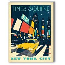 New York, Times Square Vintage Advertisement on Canvas