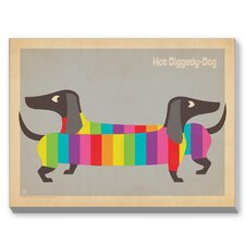 MOD Rainbow Dogs Graphic Art on Canvas