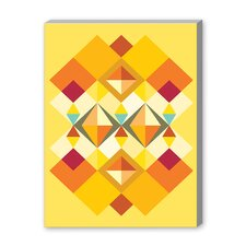 African Fabric Pattern Graphic Art on Canvas