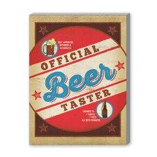 Beer Taster Round Vintage Advertisement Graphic Art