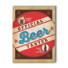 Beer Taster Round Vintage Advertisement on Canvas