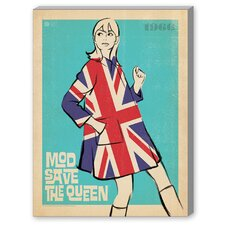 MOD Save the Queen Graphic Art on Canvas