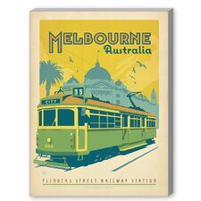 Melbourne Trolley Vintage Advertisement on Canvas
