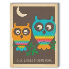 MOD Owls Graphic Art on Canvas