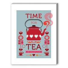 Time for Tea Vintage Advertisement on Canvas
