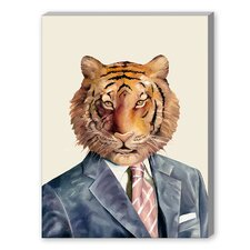 Tiger Graphic Art on Canvas
