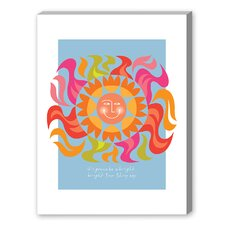 Sunshiny Day Graphic Art on Canvas