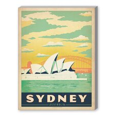 Sydney Graphic Art on Canvas