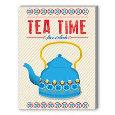 Tea Time Graphic Art on Canvas