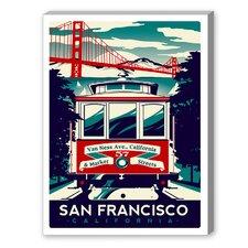 San Francisco Vintage Advertisement on Canvas